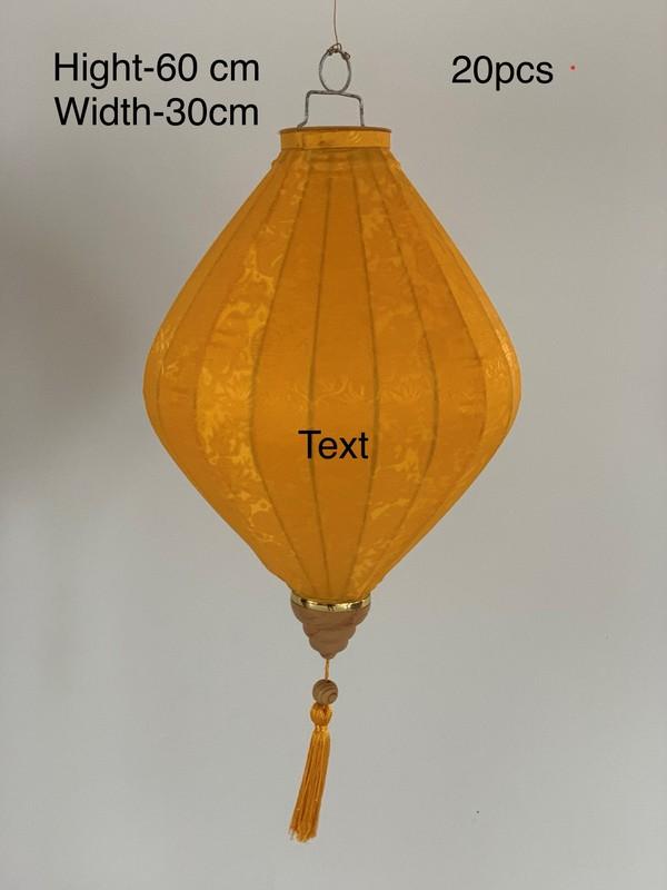 Orange Gold Vietnam Lantern 60x30cm