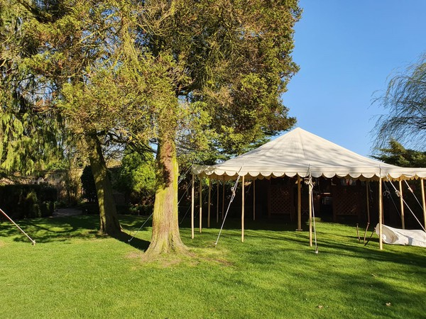 20ft x 20ft canvas traditional marquee