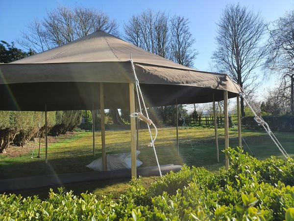 New commercial quality marquees in canvas
