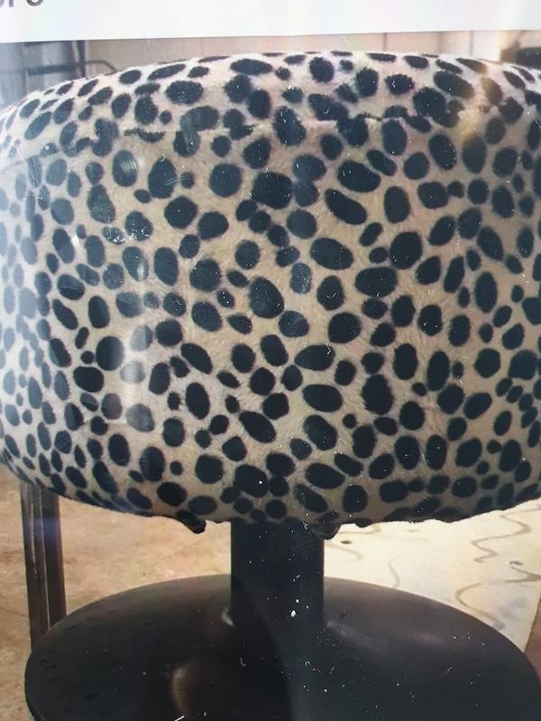 Leopard Print Pouffes