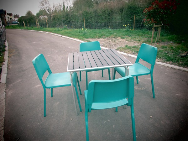 Square Tables and Chairs