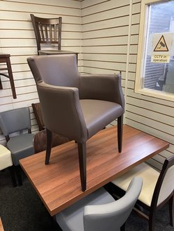 New Upholstered Leather Arm Chairs for sale