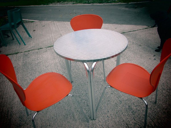 Bistro Tables and Butterfly Chairs