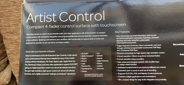 4 Fader control with touch screen