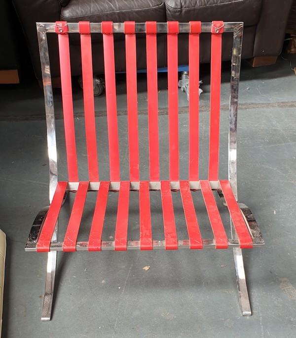 Low Chrome Chair Frame