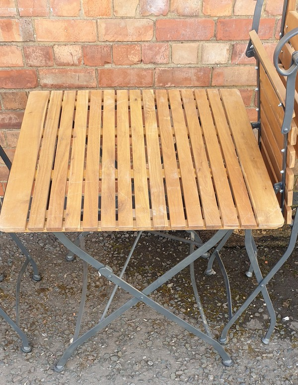 Buy Newark Folding Metal & Teak Chairs and Tables