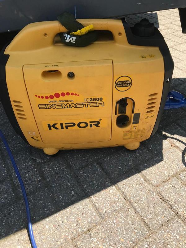 Kipor generator for catering van