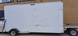 Step frame box trailer for sale