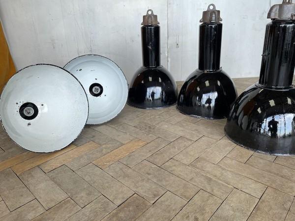 50's Elektrosvit Bauhaus Enamel Pendant Lamp