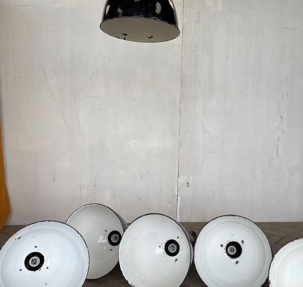 Elektrosvit Bauhaus Enamel Pendant Lamp circa 1950s