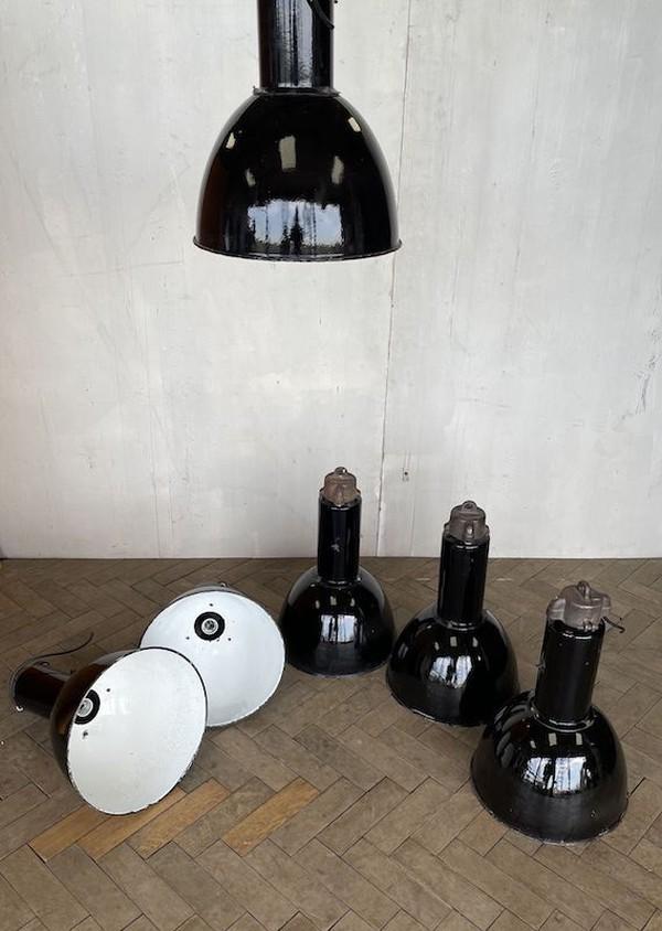 Fifties Elektrosvit Bauhaus Enamel Pendant Lamp