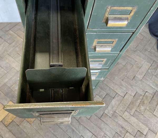 1930s Roneo Vickers Sliding Index Card Filing Cabinets