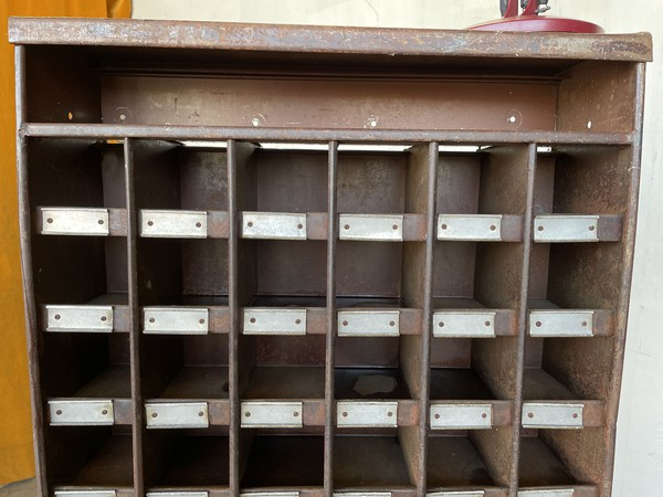 Forties Industrial Pigeon Hole Cabinet circa 1940