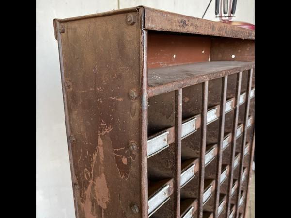 Mid Century Industrial Pigeon Hole Cabinet Unit