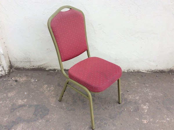 Steel frame stacking banqueting chairs