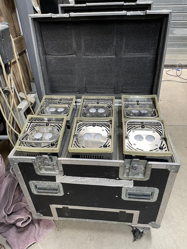 Flightcased GDS LED Uplights