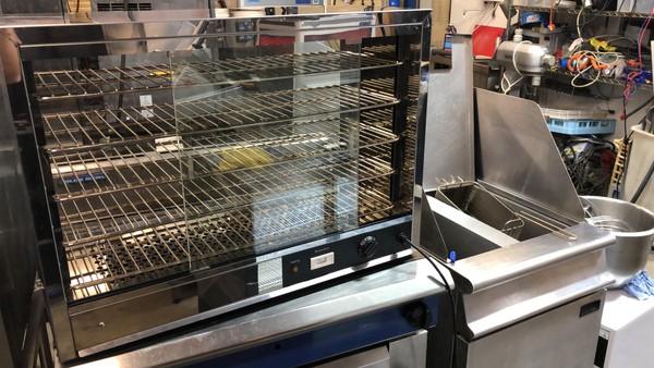 Hot food display cabinet