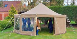 Round traditional Canvas marquees for sale