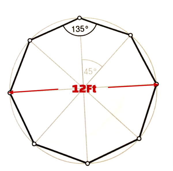 12ft round 8 sided marquee for sale