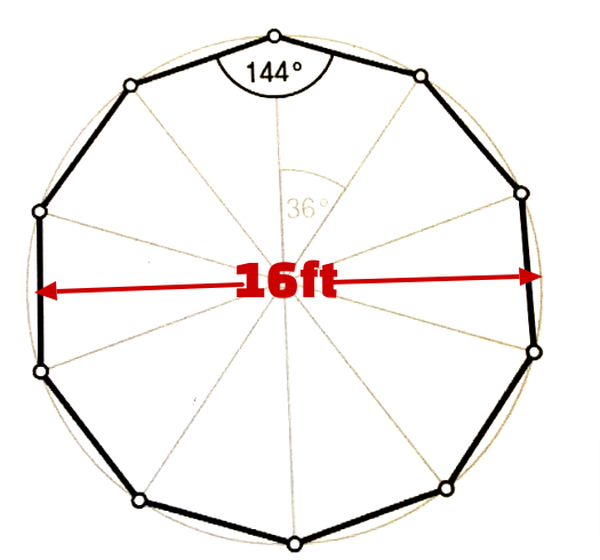 16ft Round traditional marquee