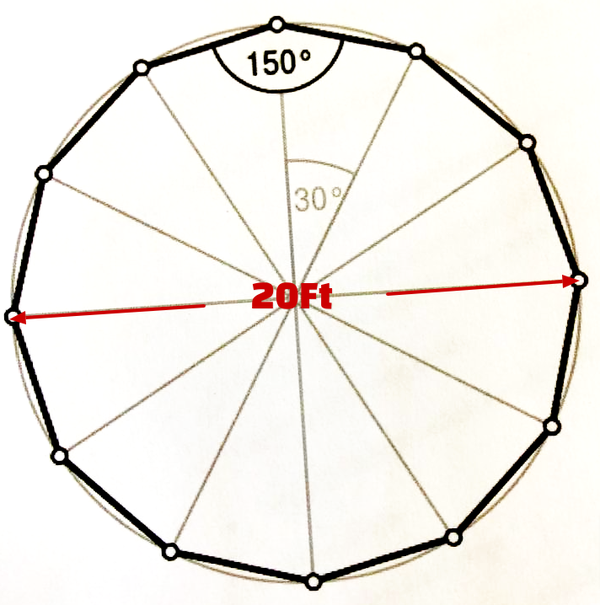 20Ft Round canvas marquee for sale