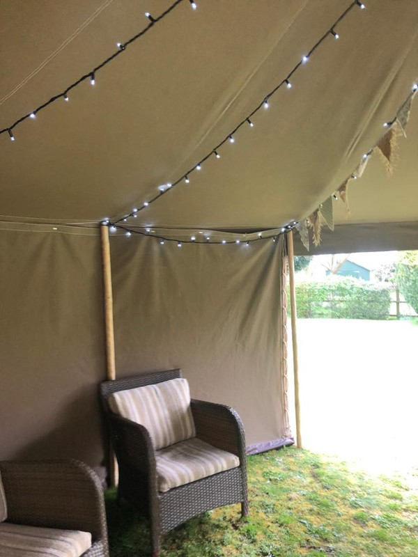 Traditional garden marquee