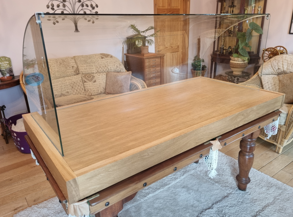 Oak and glass Ambient food display case