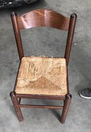 70s Vintage Dining Chair with Raffia Seat