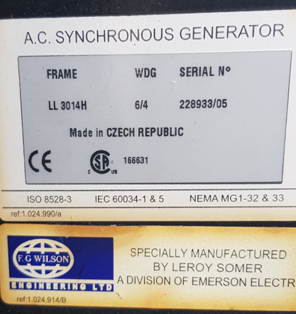 A.C Synchronous Generator 150kva
