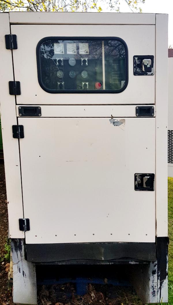 Control panel cupboard door