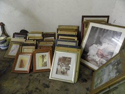 Various pictures in frames