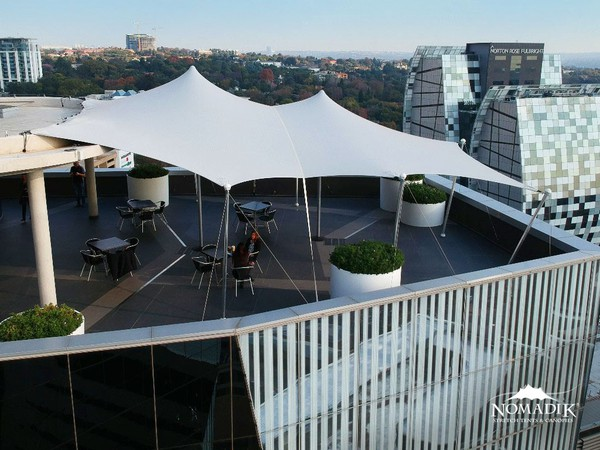 White Platinum stretch tent roof for sale