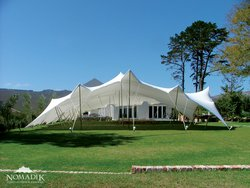 Translucent White stretch tent roof