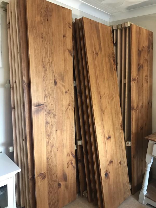 Varnished Pine Wood Floor Boards