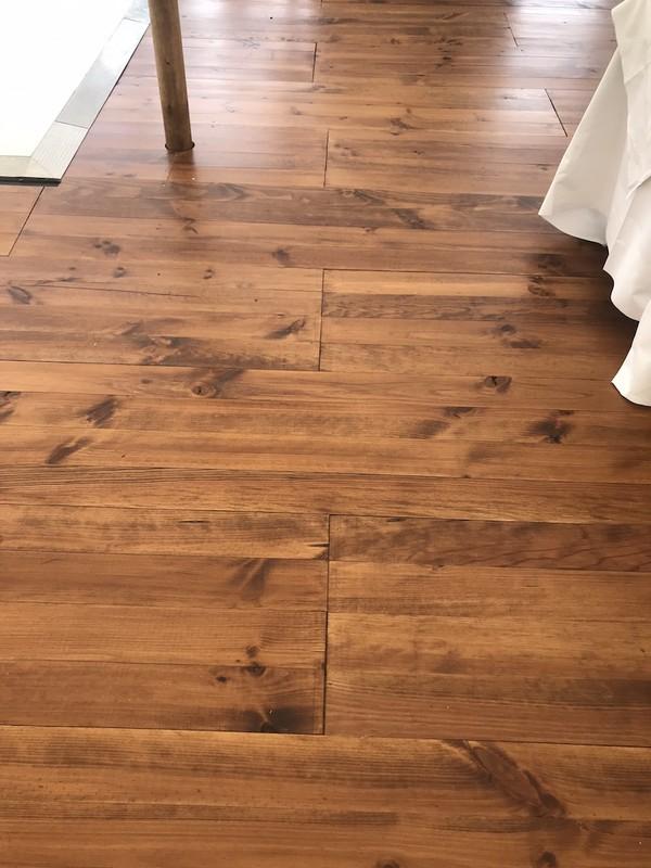 Pine Wood Marquee Floor