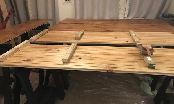 Back of Pine Wood Marquee Flooring