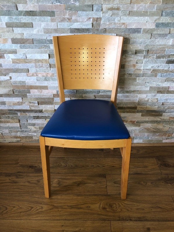Light wood dining chair ideal for a Restaurant or cafe