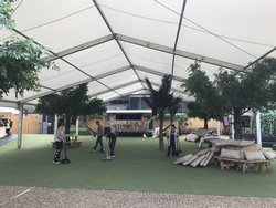 15m x 25m Framed marquee for sale (Roder)