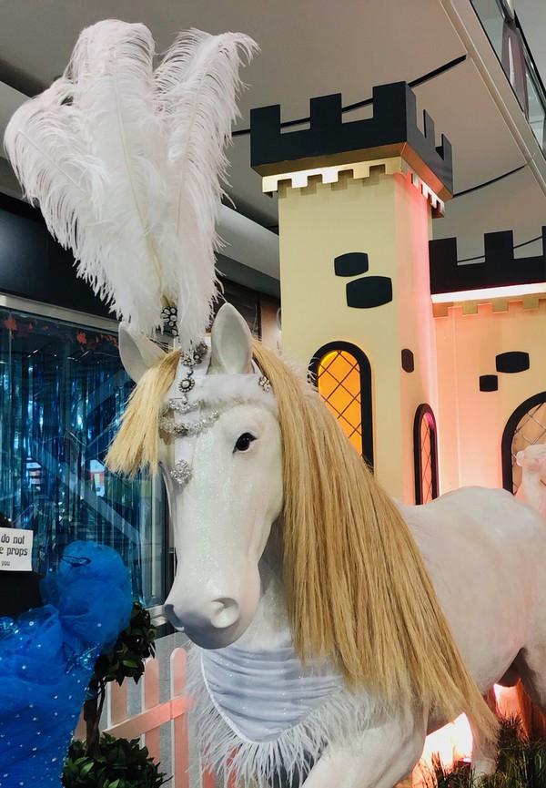 Cinderella white horse