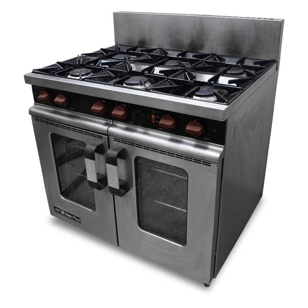 Gas range oven