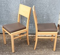 Wooden and leather chairs for sale