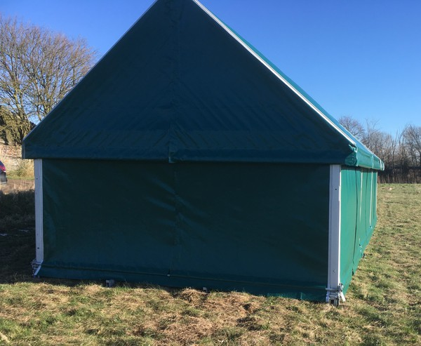 Framed marquee glamping pod