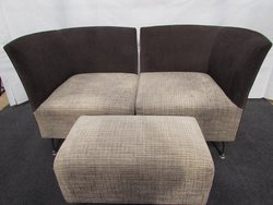 10x Corner Chair with Stool (CH170 & ST018) - Sussex