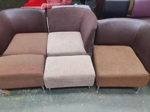10x Corner Chair with Stool (CH170 & ST018) - Sussex 5