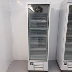 Display freezer with a glass door