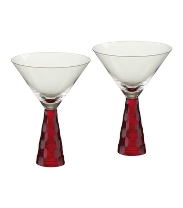 Prescotte red Martini glasses