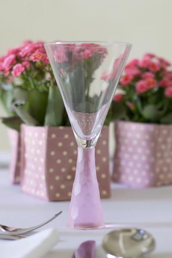 Prescotte stem ware pink glassware