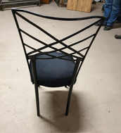 Secondhand black metal chairs for sale