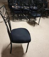 Used black ornate chairs