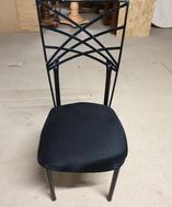 Black Metal Dining Chairs for sale